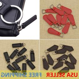1-5 Pcs PU Leather Zipper Tags Fixer Pull Tab Replacement DI