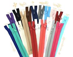 7,8,9,10,12 inch Handbag Purse Pull Zipper 10-25 pc Long Pull Nylon Zippers