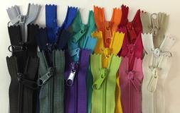 "10 Long Pull Handbag Zippers 14"" MADE IN USA- Wholesale Lot"