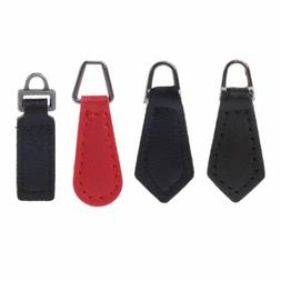 10 Pcs PU Leather Zipper Tags Fixer Pull Tab Replacement Wal