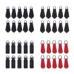 10 Pcs PU Leather Zipper Tags Fixer Pull Tab Replacement DIY