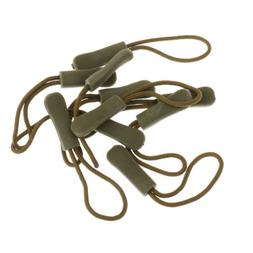 10 Zipper Pulls Cord Rope Ends Lock Zip Buckle For Clothing/