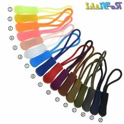 10pcs Mix Color Cord Zipper Pull Strap Lariat Black For Appa
