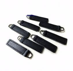 10pcs Replacement PU Leather Zipper Pull Tabs 10X35mm for Bo