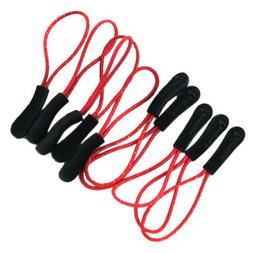 10 Red Reflective Zipper Pull Cord Puller Fastener Cord For