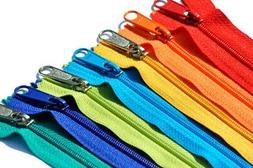 14 inch 7 assorted Colors Long Pull H&bag Zipper YKK Number