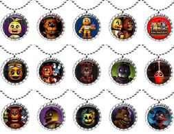 15 FIVE NIGHTS AT FREDDYS Flat Bottle Cap Necklaces for Birt