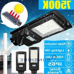 150W 936LED Solar Street Light PIR Motion Sensor Wall Lamp G