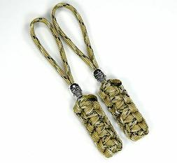 2 Paracord Skull Zipper Pull & Knife Lanyards Multiple Color