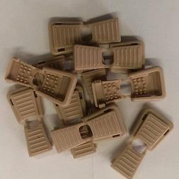 10 Beige / Tan Plastic Zipper Pull Cord Ends for 550 paracor