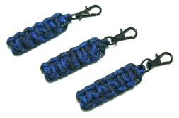 "3 PACK 3.50"" BLUE DENIM PARACORD ZIPPER PULLS CUSTOM MADE WI"