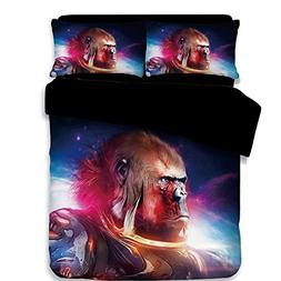 Koongso 3D Gorilla Warrior Digital Print Bedding Sets Revers