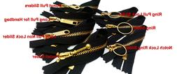 Exposed Zip  YKK #5 Brass Closed Bottom Creat your Color & S