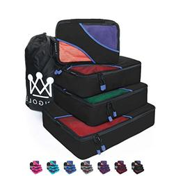 4 Set Packing Cubes Travel Luggage Packing Organizer with La