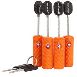 4 Pack TSA Approved Luggage Locks with Keys for Travel – F