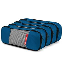 4 Slim Gonex Packing Cubes Travel Luggage Organizer Deep blu