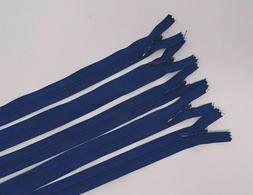4mm invisible blue zipper plastic teeth teardrop