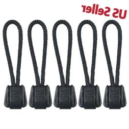 5 PCS Paracord Zipper Pulls w/ Plastic Pull Tab for Backpack