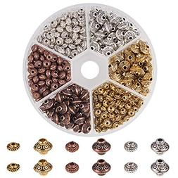 PH PandaHall 1 Box 450 PCS 6.5mm/ 5x3mm Tibetan Alloy Spacer