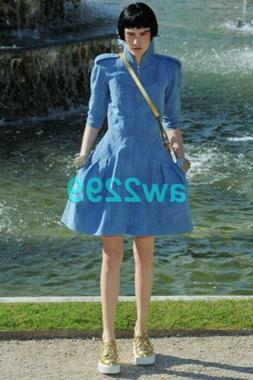 CHANEL $6820 EXQUISITE RUNWAY VERSAILLES DRESS CC ZIPPER PUL