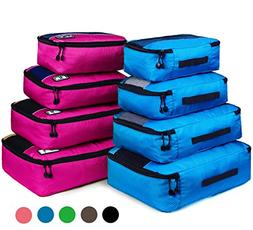 8 Set Packing Cubes, Mixed Color Travel Luggage Packing Orga