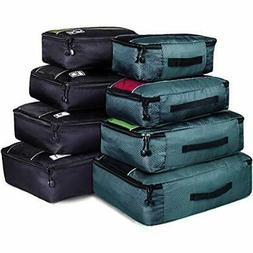 8 Set Packing Cubes Mixed Color Travel Luggage Organizer