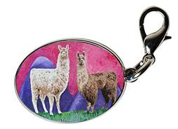 Animal Zipper Pull - Bag Charm - Wearable Art (Llama-Andeans