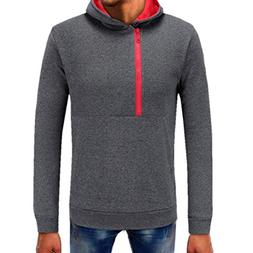 Clearance Sale! 2018 Wintialy Mens Pure Color Zipper Pullove