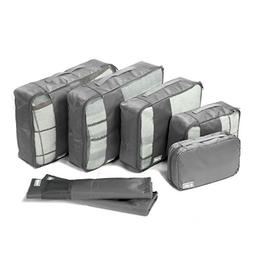 Coolife Packing Cubes Travel Organizers with Laundry Bag 7 S