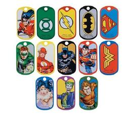 DC Justice League Dog Tags - Set of 13 Tags - Wonder Woman,
