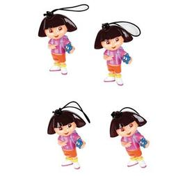 Dora The Explorer Zipper Pulls 4ct