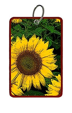 Extra Large Luggage Tag: Sunflower