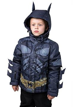 FunComInc Batman Winter Jacket Kids Dark Knight Outdoor Coat