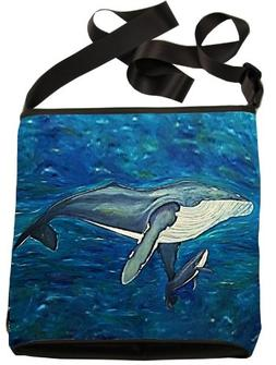 Humpback Whale Large Cross Body Bag - Wearable Art, From My