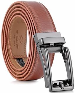 Marino Men's Genuine Leather Ratchet Dress Belt with Open
