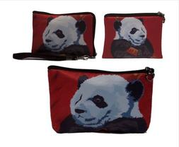 Panda Gift Set- Coin Purse, Wristlet and Cosmetic Bag - From