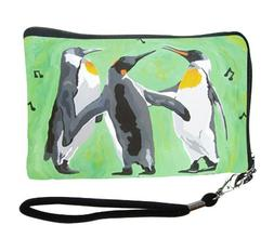 Penguin Small Zip Around Wristlet - Wearable Art - Support W