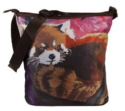 Red Panda Large Cross Body Bag - Wearable Art, From My Origi