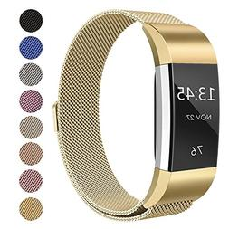 SWEES Metal Bands Compatible Fitbit Charge 2, Milanese Stain