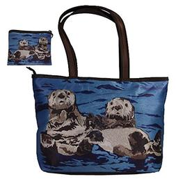Sea Otters Gift Set Shoulder Bag and Coin Purse- Support Wil
