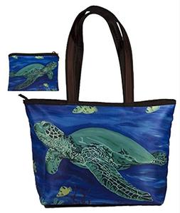Sea Turtle Gift Set Shoulder Bag and Coin Purse- Support Wil