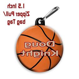Two Basketball zipper pulls bag tags 1.5 inch charms persona