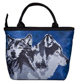Wolf Small Handbag, Wolf Purse - From My Original Painting,