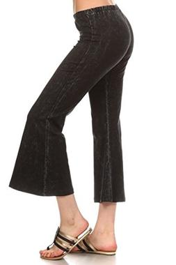 Zoozie LA Women's Culottes Bell Bottoms Stretch Pants Denim