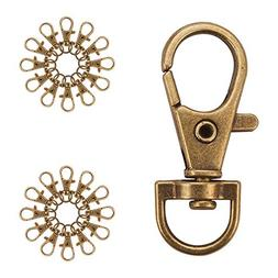 PandaHall Elite 50 Pieces Metal Lobster Claw Clasps Swivel L