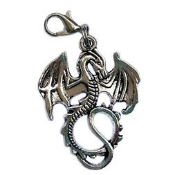 Pack of 17 Anti Silver Dragon Clip On Charm Zipper Pull Perf
