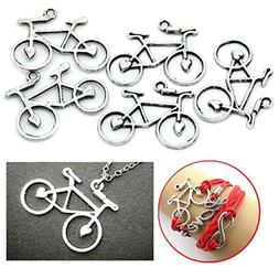 AKOAK 30 Pieces Antique Silver Alloy Bicycle Bike Sports Cha