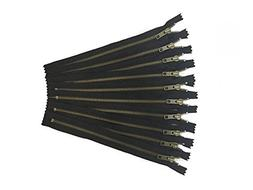 antique zippers by YKK - pack of 10 6 inch antique gold zipp