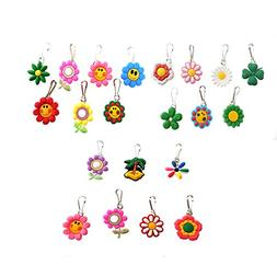 Hermes AVIRGO 21 Pcs Colorful Soft Zipper Pull Charms for Ja