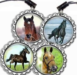 Beautiful Horse Bottle Cap Sports Bag Tag Luggage Id Backpac
